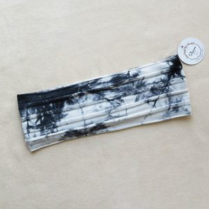 Black and white tie die headband by Shaina style's hair accessories